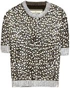 By Malene Birger Bine Sequined Lamé Top - Lyst