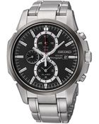 Seiko Mens Silver Chronograph Watch - Lyst
