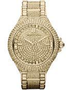 Michael Kors Midsize Stainless Steel Glitz Watch - Lyst