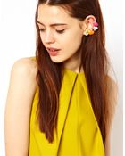 Asos Jewel Double Ear Cuff - Lyst