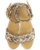 Hermes Sofia Braided Heeled Sandals - Lyst