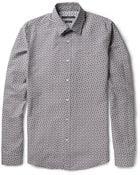 Gucci Slimfit Horsebit Print Cotton and Silk Blend Poplin Shirt - Lyst