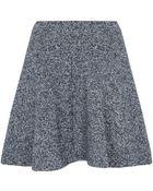 Topshop Loop Back Skater Skirt - Lyst