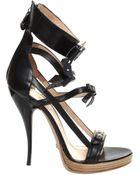 Viktor & Rolf Bow Strap Sandal Heels Black - Lyst