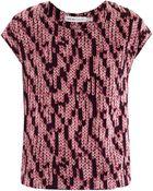 See By Chloé Knit Print Silk Top - Lyst