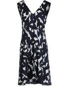 Marni Sleeveless V-Neckline Black Short Dress - Lyst