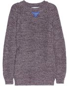 Each x Other Leather-Detailed Chunky-Knit Cotton Sweater - Lyst