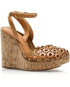 Tory Burch Verity Wedge Sandals - Lyst
