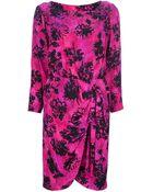 Yves Saint Laurent Vintage Print Dress - Lyst