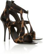 Giuseppe Zanotti Leopard Print Calf Hair Sandals - Lyst