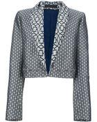 Haider Ackermann Cropped Jacquard Print Jacket - Lyst