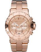 Michael Kors Rose Golden Chronograph Watch - Lyst