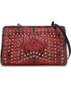 Zara Messenger Bag with Metallic Decorative Detailing - Lyst