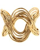 Aurelie Bidermann Hermosa Beach Cuff in 18k Gold Plated Brass - Lyst