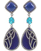 Colette Lapis Lazuli Drop Earrings - Lyst