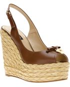 Dolce & Gabbana Wedge Sling Back Sandal - Lyst