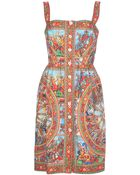 Dolce & Gabbana Sleeveless Dress - Lyst