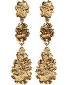Oscar de la Renta Goldplated Crystal Earrings - Lyst