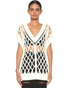 Alexander Wang Lattice Cable Sleeveless Tunic in Highlighter - Lyst