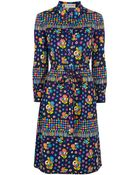 Lanvin Vintage Floral Print Shirt Dress - Lyst