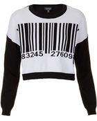 Topshop Knitted Barcode Motif Jumper - Lyst