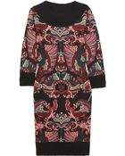 McQ by Alexander McQueen Intarsia Knitted Wool Dress - Lyst