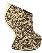 Giuseppe Zanotti 150mm Suede Spiked Sculptural Wedges - Lyst