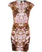 McQ by Alexander McQueen Cap Sleeve Print Dress - Lyst
