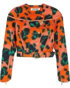 Kenzo Animal print Cotton blend Twill Jacket - Lyst