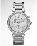 Michael Kors Ladies Parker Glitz Chronograph Watch - Lyst