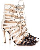 Bionda Castana 100Mm Cream Leather Kiki Heels - Lyst