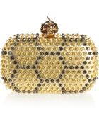 Alexander McQueen The Skull Studded Leather Box Clutch - Lyst