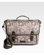 Robert Graham Foster Leather Trimmed Paisley Messenger Bag - Lyst