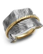 Elizabeth And James Two Tone Feather Ring - Lyst
