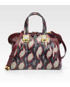 Fendi Ayers Python Top Handle Bag - Lyst