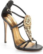 Giuseppe Zanotti Jeweled Teardop High Heel Sandals - Lyst