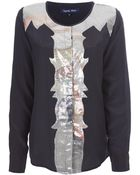 April, May Davis Sequined Blouse - Lyst