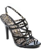 Jessica Simpson Primrose Metallic High Heel Sandals - Lyst