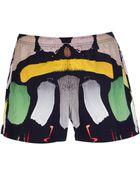 Christopher Kane Printed Swim Shorts - Lyst