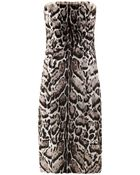 Christopher Kane Jaguar-Print Goat Hair And Leather Dress - Lyst