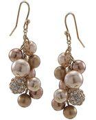 Carolee Faux Pearl Cluster Earrings - Lyst
