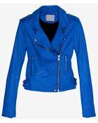 IRO Exclusive Ashville Leather Jacket Blue - Lyst