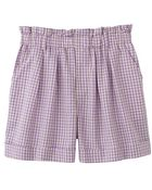 Uniqlo Linen Blended Flare Shortschecked - Lyst