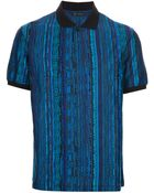 Versace Printed Polo Neck Tshirt - Lyst