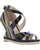 Paloma Barceló Patent Rope Wedged Sandal - Lyst