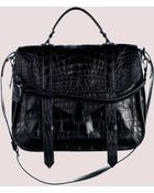 Proenza Schouler Ps1 Extra Large Crocodile - Lyst
