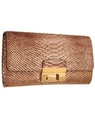 Michael Kors Gia Clutch with Lock - Lyst