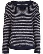 Theyskens' Theory Striped Sweater - Lyst