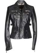 DSquared2 Leather Outerwear - Lyst