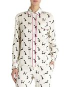 Piamita Geometric Cat Isabella Pajama Shirt - Lyst